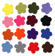 Flower color felt samples