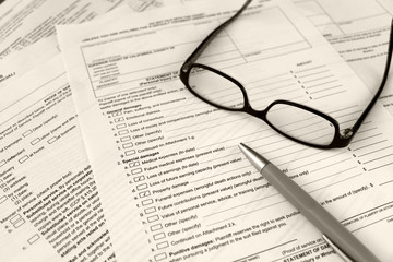 filling out legal court forms
