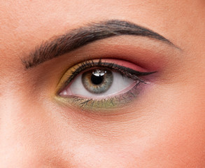 Closeup shoot eye make up zone