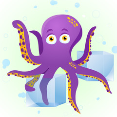 Octopus Fortune Teller with Crystal Cube.
