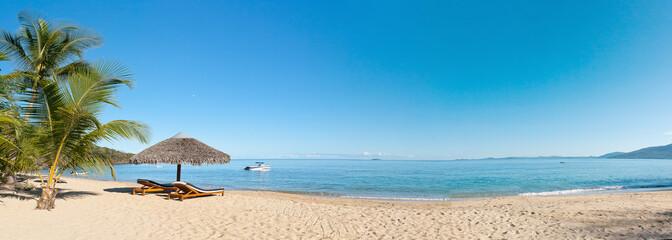 Wall Murals Beach Tropical beach panorama