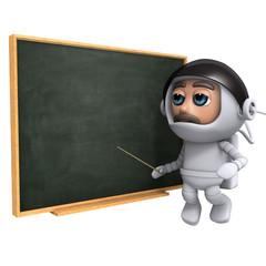 3d Astronaut at the blackboard