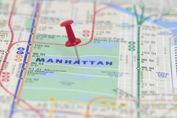 A Push Pin in Manhattan