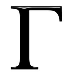 3D Greek Letter Gamma