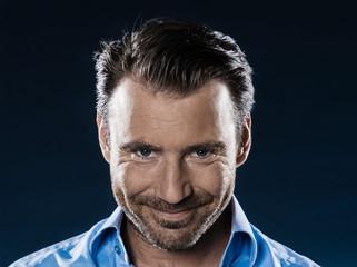 Man Portrait Smiling malicious