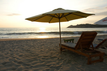 Beach during the sunset, Puerto Escondido, Mexico