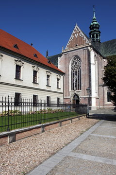 Building of Monastery at Mendel square in Brno, Czech Republic