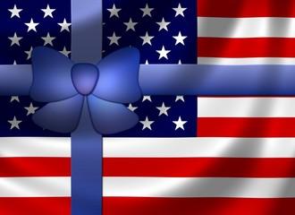 USA Flagge mit Schleife
