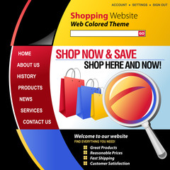 Colorful Internet Web Shopping Template