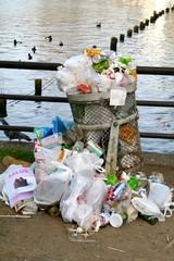 Müll zur Kirschblüte