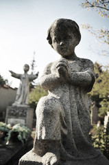 Statues in the cemetery