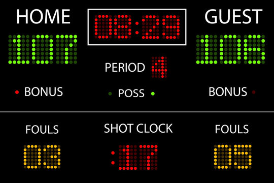 Vector Basketball Scoreboard
