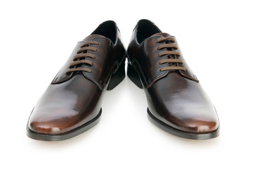 Male shoes isolated on the white background