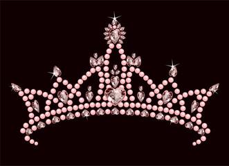 Canvas Prints Fairytale World Princess Crown