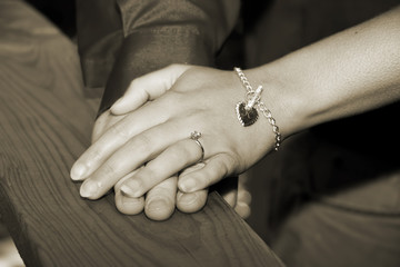 Hands of Couple in Love