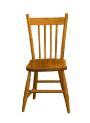 child maple chair on a white background