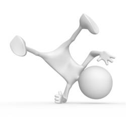 3d character breakdancer