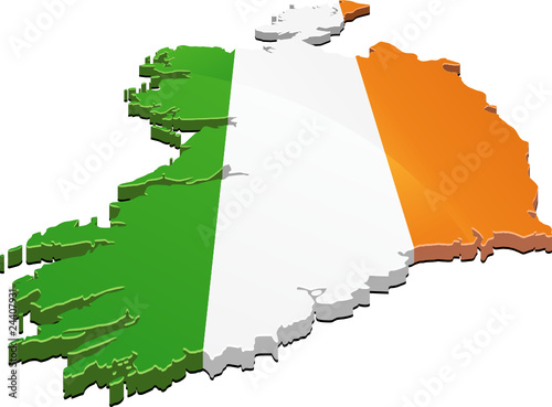 Map Of Ireland 3d.3d Map Of Ireland Flag Stock Image And Royalty Free Vector Files