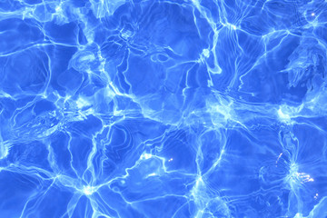 Swimming pool water ripples