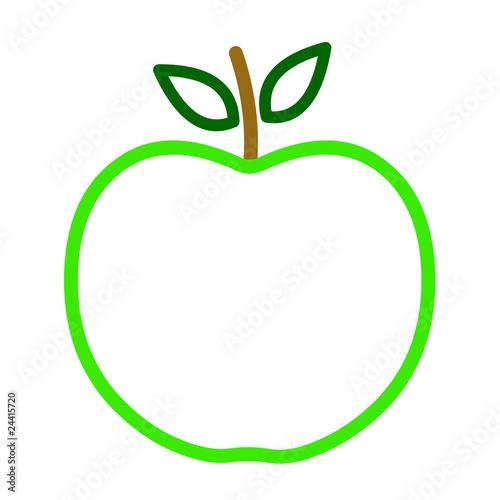 Contours d 39 une pomme verte fichier vectoriel libre de - Dessin d une pomme ...