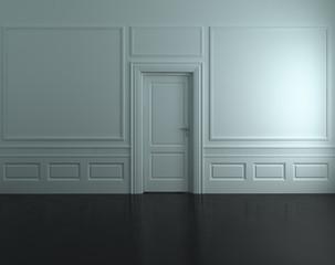porta bianca fondo nero