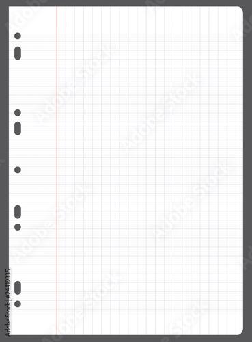 Feuille carreaux d 39 colier fichier vectoriel libre de for Feuille a carreaux