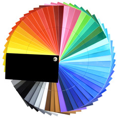 Colorfull spectrum palette sample isolated with clipping path