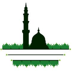 Deurstickers mosque