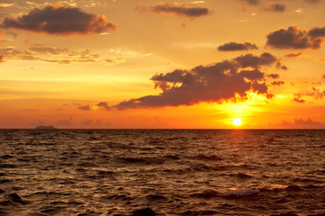Tropical sunset in the sea. Thailand