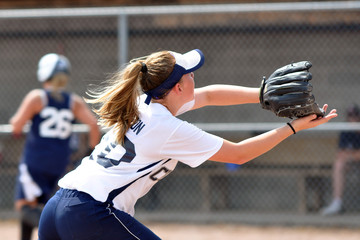 softball close catch