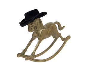 Rocking Horse with Cowboy Hat