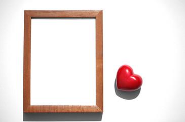Herz mit Rahmen