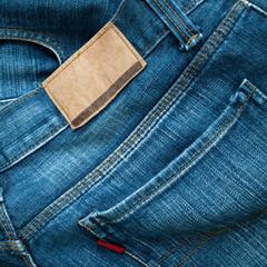 Back of blue jeans