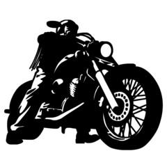 Fototapete - biker custom