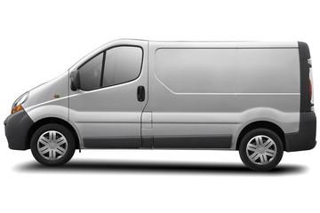 commercial vehicle isolated on white