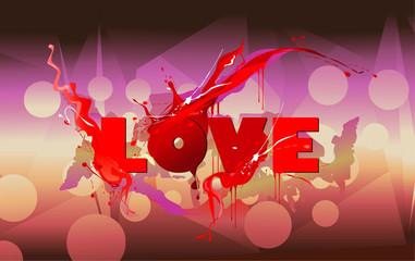 Love word vector