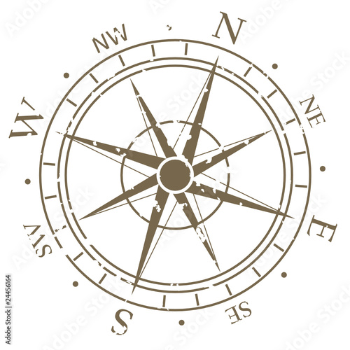 Wall mural Old fashioned compass rose