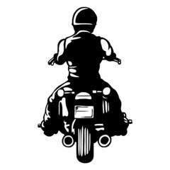 Fototapete - biker end