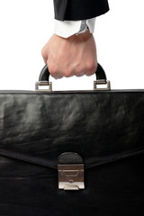 Business hand with a suitcase