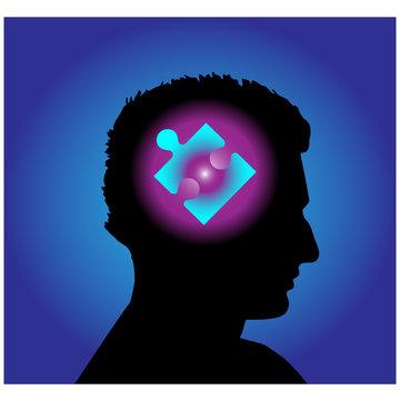 Puzzle head.Vector