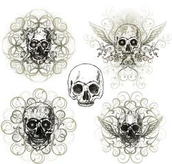 Grunge skull design