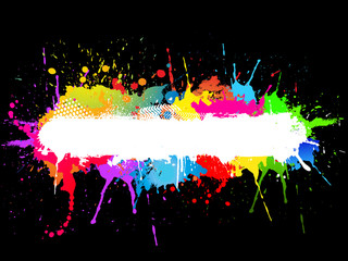 Paint splat background