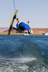 Man wakeboarding at Lake Powell 03