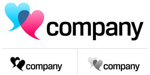 Two hearts logo