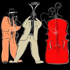 Canvas Prints Art Studio Jazz band