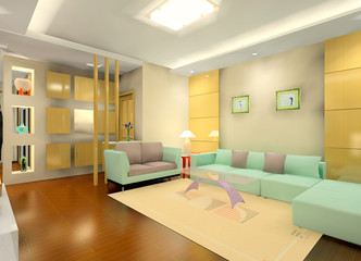 a faddish living room in the house