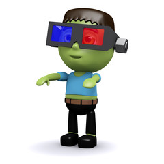 3d Frankenstein sees in 3d