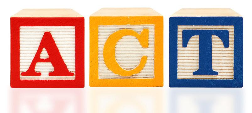 Alphabet Blocks ACT  American College Test