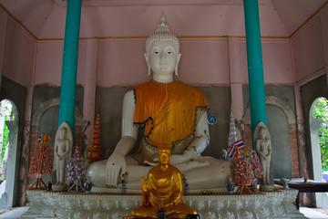 White Buddha in Wat Pha Lad, Chiang Mai