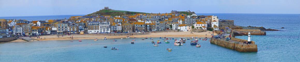 Panoramic of St Ives Bay, Cornwall